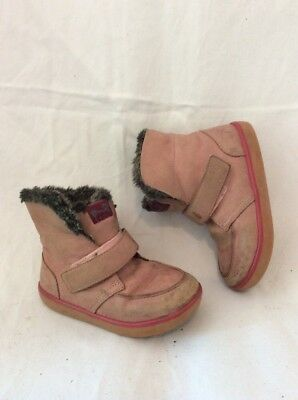 Girls Camper Pink Leather Boots Size 25