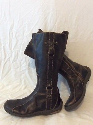 Girls Primigi Brown Leather Boots Size 35