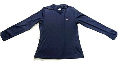 FILA Blue PERFORMANCE SHIRT XL LONG SLEEVE TEE Great Condition! LOOK!!