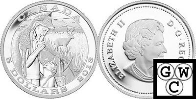 2013 'Tradition of Hunting-Deer' Proof $5 Silver Coin .9999 Fine *No Tax (13141)