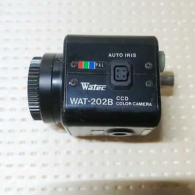 1PCS WATEC WAT-202B Small Color Industrial Inspection Camera  Tested
