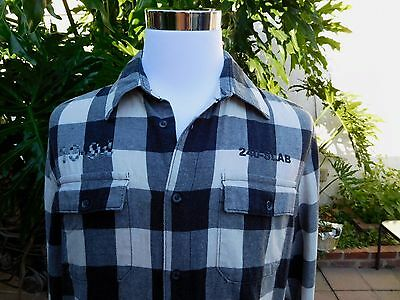 0ba60984 Diesel Style Lab 2XL Flannel Shirt Checkerboard Cotton Blend Made in Italy