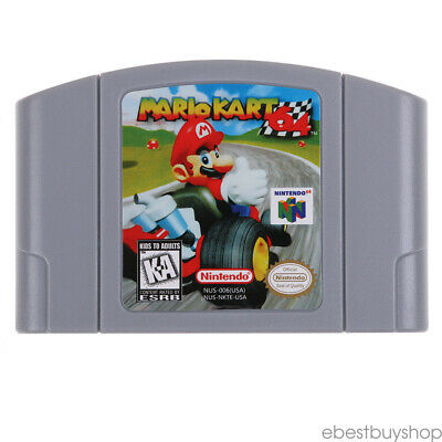 Nintendo N64 Game: Mario Kart 64 Video Game Card US/CAN Version