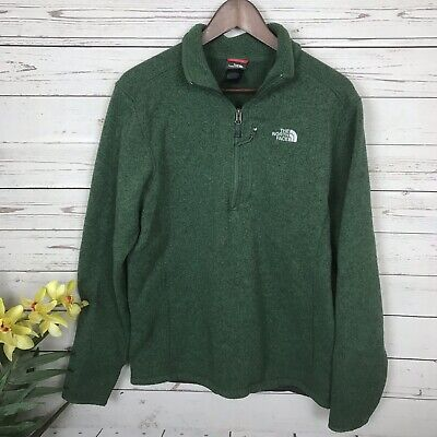 66cf9d1c5 THE NORTH FACE Mens Half Zip Fleece Pullover Sweater 3/4 Sleeve Size ...