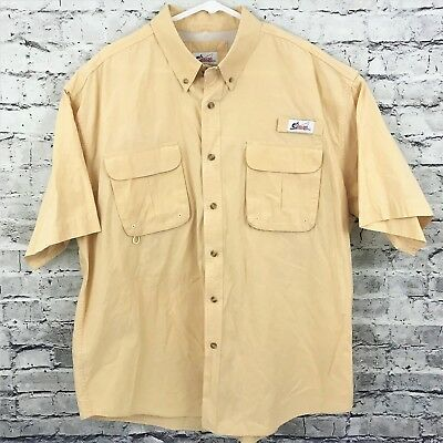 b01b1698 World Wide Sportsman Mens Button Front Mesh Vented Fishing Shirt Size XXL