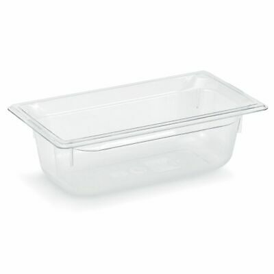 "Vollrath 8036410 Clear 1/3 Size x 6"" D Low Temp Food Pan"