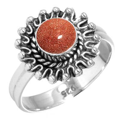 925 Sterling Silver Ring Gold Stone Handmade Jewelry Size 12 gk62851