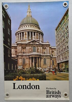 24x36 1953 London St Paul/'s Cathedral Classic British Travel Poster