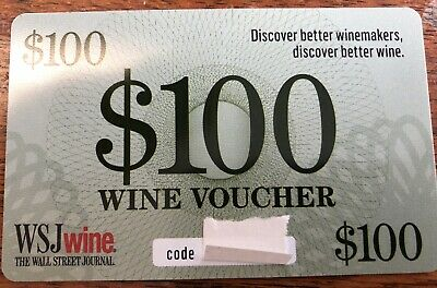 WSJ Wine, $100 Wine Voucher Card, Wall Street Journal Wine,