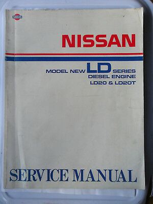 NISSAN LD SEL Engine Factory Workshop Manual Bluebird ... on