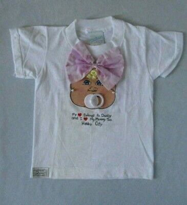 Cabbage Patch Kids T-Shirt with Bow, Hair, Earrings, Pacifier for Child Size 2-4