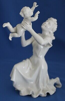 Hutschenreuther Mother Lifting Baby Figurine By Karl Tutter Made In Germany