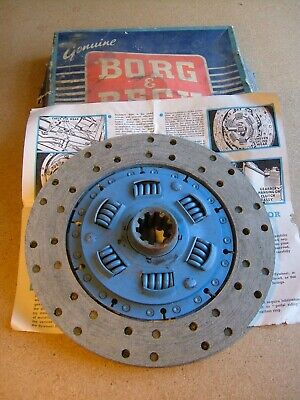 Clutch Driven Plate h028 Jensen Interceptor Mk1 Mk2 FF >Genuine Borg & Beck NOS