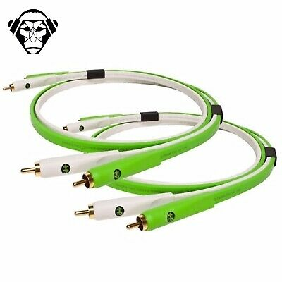 Oyaide NEO d+ Twin RCA Class B White/Green 1.0M High Quality Cable Lead DUO PAIR
