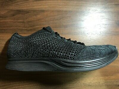 45468d356f67f Nike Flyknit Racer Midnight Blackout Triple Black Sz 9.5 yeezy off