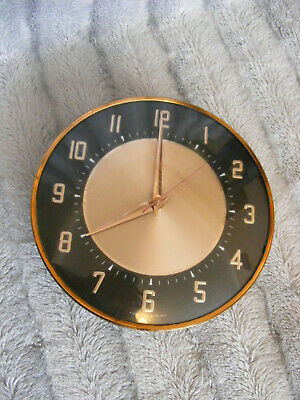 60's 70's Vintage Retro Style Round Metamec Quartz Wall Clock Made in England