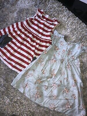 Girls Bundle NEXT Floral Summer Dress Outfit Age 4-5yrs Ditsy Stripe Red White