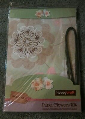 Hobbycraft paper flowers kit florist wire brand new green floral selection