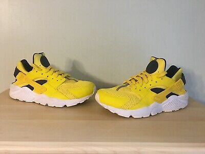 new products e3e90 d798c WHOA Nike Air Huarache Tour Yellow Black Yellow White 318429-700 Mens Sz  10.5