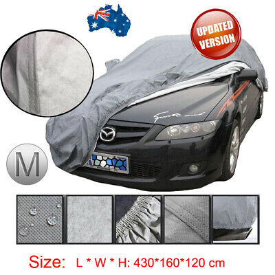 100% Waterproof Small Full Car Cover In&Outdoor 3Layers Breathable UV Protection