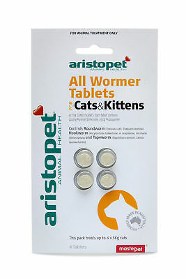 All Wormer for Cats&Kittens 4pk - Cat Worming Tablets - Aus Made