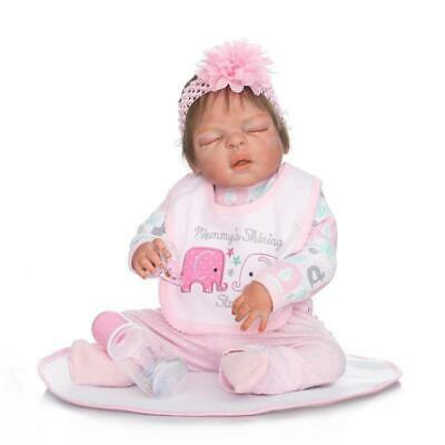 "22"" / 55cm Newborn Full Body Vinyl Silicone Reborn Baby Dolls Handmade Girl Doll"