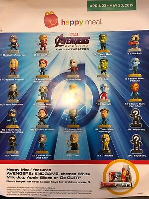 Mcdonald's Avengers Marvel #1-24, 2019 End Game Toys, U Pick!! Almost Gone
