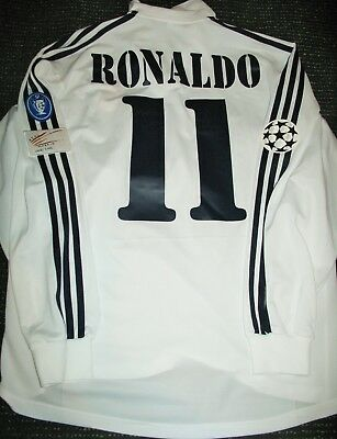 new arrivals 3057e 5e5b2 AUTHENTIC RONALDO REAL Madrid DEBUT Centenary Jersey Shirt 2002 2003  Camiseta L