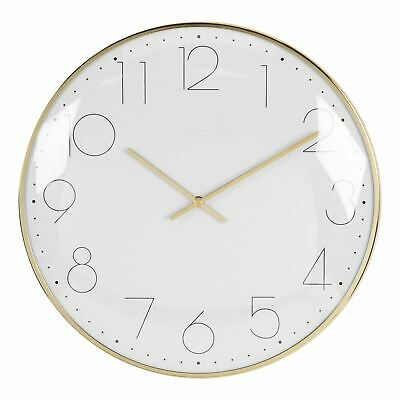 Hometime Round Wall Clock Chrome Plated - Gold
