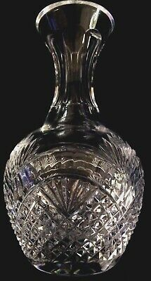 """WATERFORD CRYSTAL 9""""CARAFE / PITCHER. Mouth-Blown, Hand -Cut. WAT100 Pattern."""