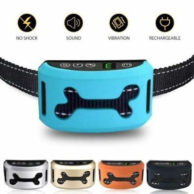 Auto Anti Bark - Rechargeable Vibration Collar Stop Barking Dog Pet Trainer Tool