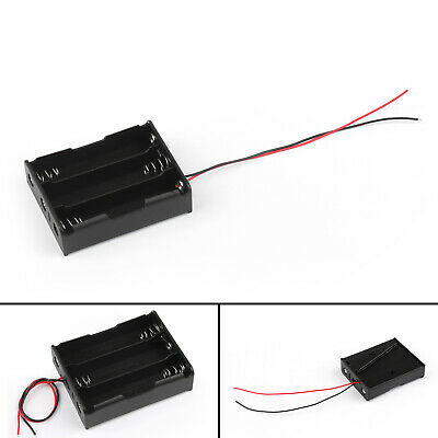 3 Cell 18650 Series Battery Holder Storage Case With Wire Leads 11.1V B/A5