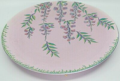 Large Vintage Art Deco Carlton Ware Wall Hanging Plate Charger. Wisteria (#3866)