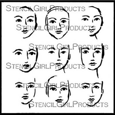 Stencil Girl - 6inx6in - Faces In The Crowd