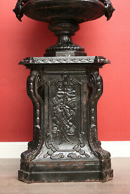Antique Cast Iron Pedestal Plant Stand Planter Support Garden Ornament 1 of 2