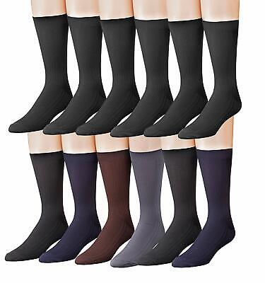 NEW James Fiallo Mens 12 Pack Colorful Patterned Dress Socks . FREE SHIPPING