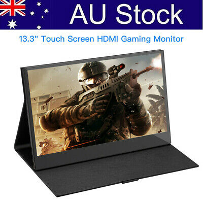 """Portable 13.3"""" Inch Touch Screen Gaming Monitor Video HDMI for PS3 PS4 Xbox One"""
