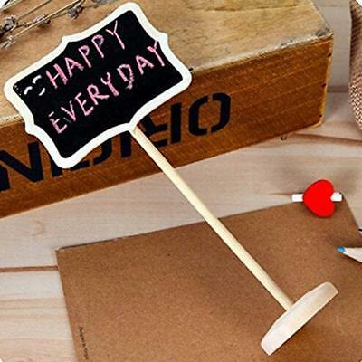 1/10pcs Decor Mini Chalkboard Wedding Table Stands Wooden Blackboard Party XS