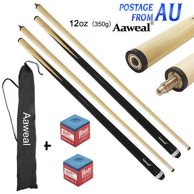 """58"""" WOODEN POOL SNOOKER BILLIARD CUE SET Cues with Screw Tips Stick"""