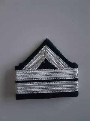 paire epaulette 2 bandes argent neuf AVIATION MARINE ARMEE stripes army