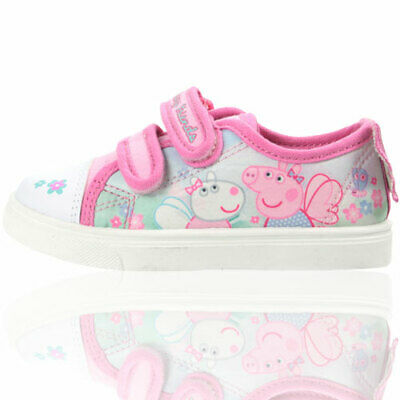 "Baby//Child PEPPA PIG Canvas Cute Pink /""Hale/"" Pump UK Sizes 5-10 *NEW*"