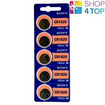 5 Sony Cr1620 Lithium Batteries 3V 80 Mah Cell Coin Button Exp 2028 New