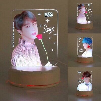 Kpop BTS Map of The Soul Persona 7 Colors LED Night Light Table Desk Lamp Gift