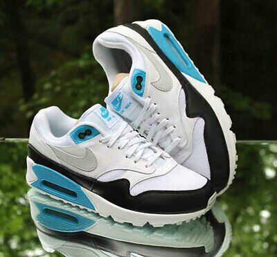 low priced c8e06 10aef Nike Air Max 90 1 Laser Blue Men s Size 8.5 White Neutral Grey AJ7695-