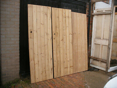 Reclaimed Victorian cottage / plank / ledge stripped pine doors.  (15 available)