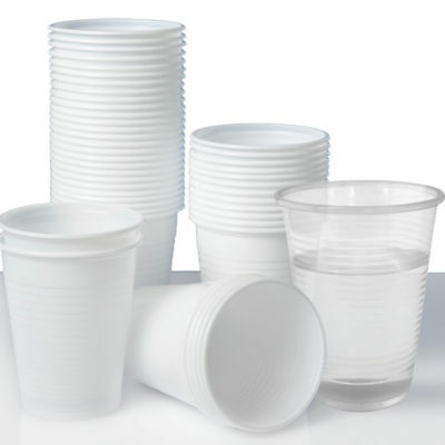 100 x Party Cups Disposable Plastic Cups Water Cups White cups Clear Cups Drinks