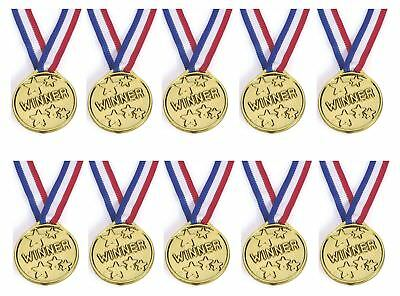 1-48 PCS Children Gold Plastic Winners Medals Sports Day Party Bag Awards Toys