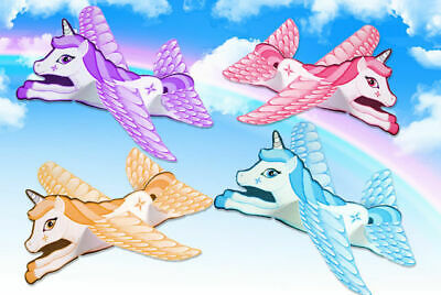Unicorn Flying Gliders Girls Toys Prize Wedding Favor Birthday Party Bag Fillers