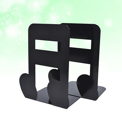 1 Pair Book Bezel Metal Music Note Shaped Stand Desktop Bookmark for Magazines