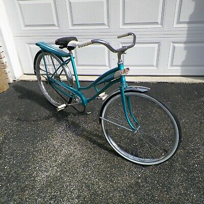 c58b80a1e8d Murray Jet Fire Girls Vintage Bicycle 1950's/60's Turquoise 26